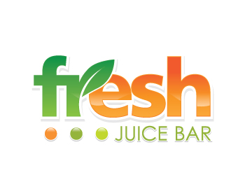 Logo design entry number 49 by green | Fresh Juice Bar ...