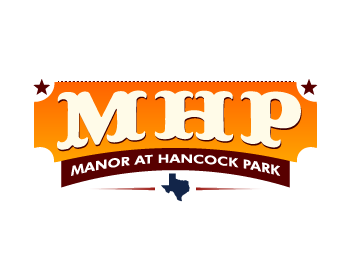 Manor at Hancock Park logo design