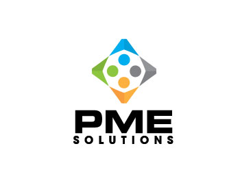PME Solutions logo design