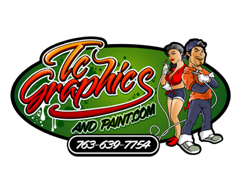 Tc Graphics and Paint logo design