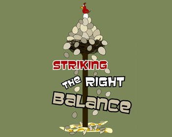 Striking the Right Balance logo design