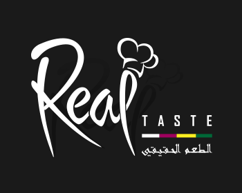 Restaurant logo design for Real Taste
