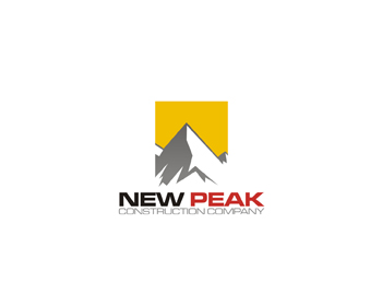 New Peak Construction Company logo design