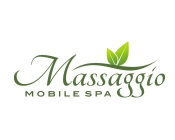 Massaggio Mobile Spa logo design
