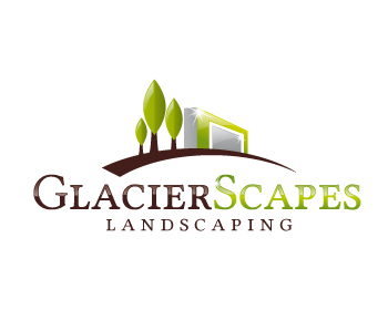 GlacierScapes logo design