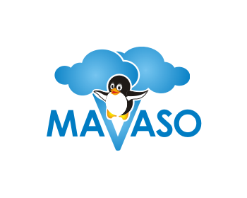 Technology logo design for Mavaso