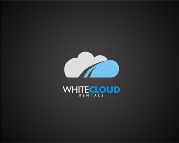 White Cloud Rentals logo design