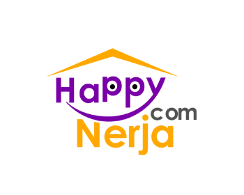 HappyNerja.com logo design