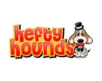 hefty hounds logo design