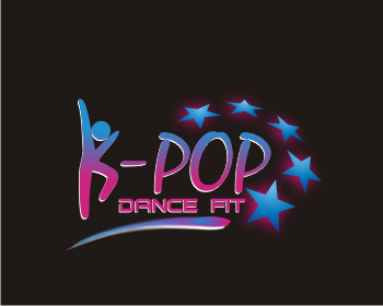 K-Pop Dance Fit logo design