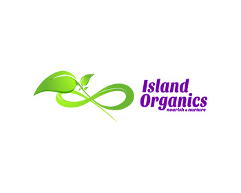 Logo design for Island Organics