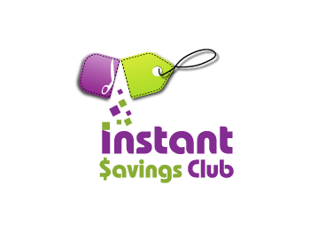 Instant Savings Club logo design