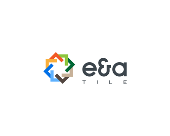 E & A Tile logo design