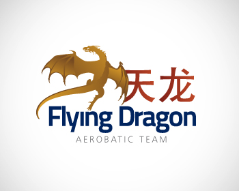 Flying Dragon Aerobatic Team logo design