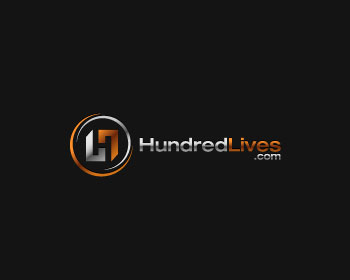 HundredLives.com logo design