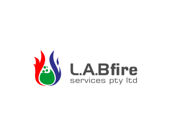 lab fire services pty ltd logo design