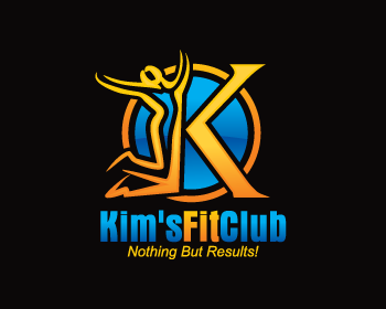 Kim's Fit Club logo design