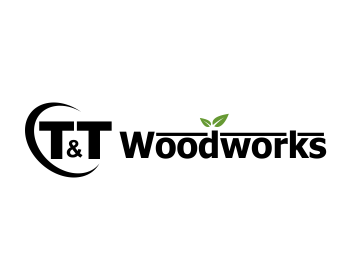 T and t Woodworks logo design