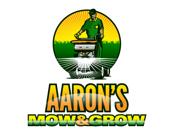 Aaron's Mow and Grow logo design