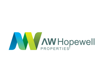 AW Hopewell Properties logo design