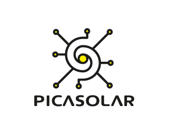 Picasolar logo design