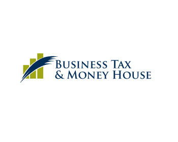 Business Tax & Money House logo design