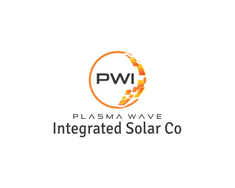 Plasma Wave Integrated Solar Co logo design