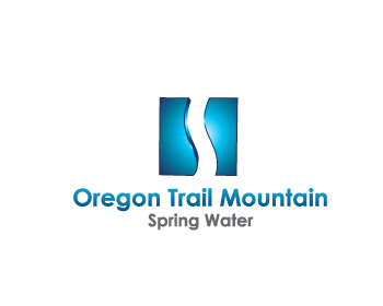 Oregon Trail Mountain Spring Water logo design
