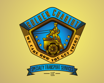Golden Chariot Specialty Transport Services, LLC logo design