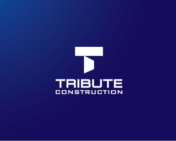 Tribute Construction logo design