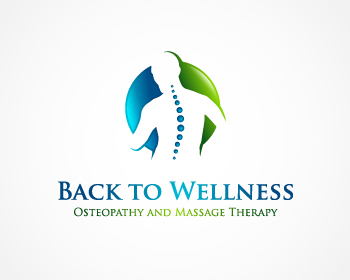 Back to Wellness Osteopathy and Massage Therapy logo design