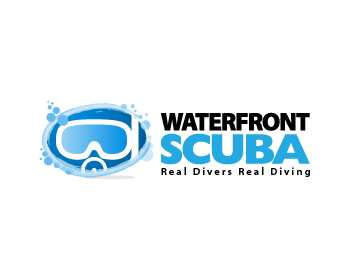 Waterfront Scuba logo design