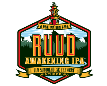 Restaurant logo design for Ruud Awakening IPA