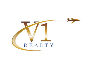 V1 Realty logo design