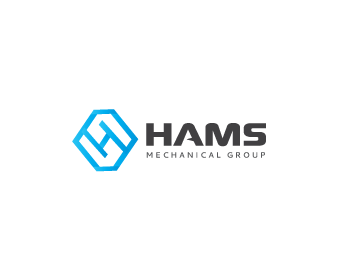 Hams heating and air conditioning logo design