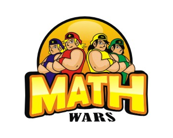 Math Wars logo design