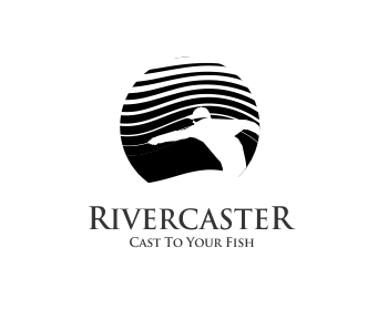 Rivercaster Adventures logo design