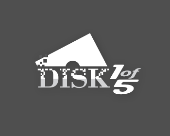 Disk1of5 logo design
