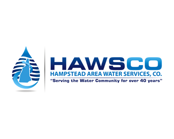Hampstead Area Water Services, Co. logo design