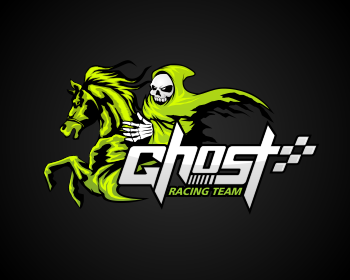Logo Design Entry Number 87 By Masjacky Ghost Racing Team Logo Contest