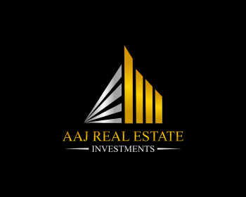 Aaj Real Estate Investments logo design