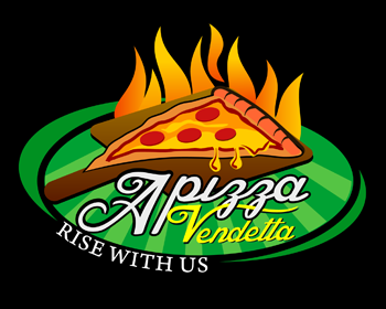 Apizza Vendetta logo design