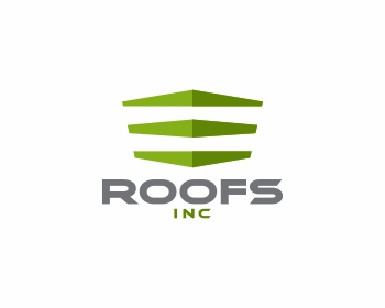 Roofs Inc. logo design