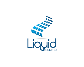 Liquid Resume logo design