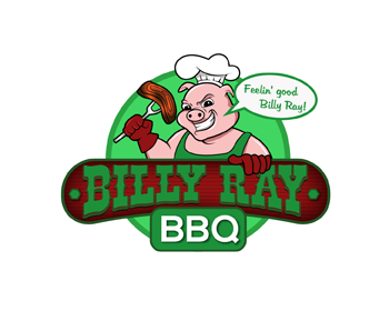 Billy Ray BBQ logo design