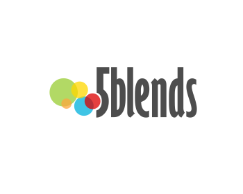 5 Blends logo design