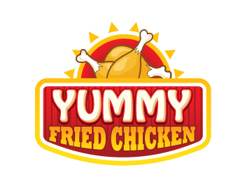 logo design entry number 25 by juanm yummy fried chicken logo contest