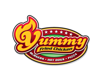 logo design entry number 54 by scave yummy fried chicken logo contest