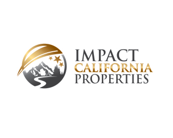 Impact California Properties logo design