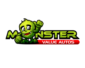 Monster value autos limited logo design